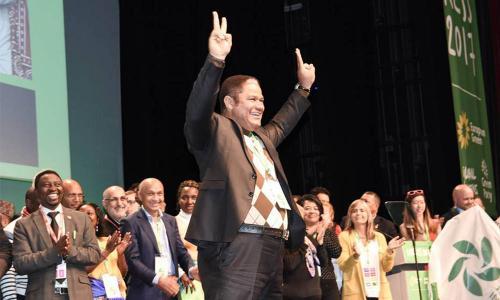 au Congrès des Verts Mondiaux (Global Greens)