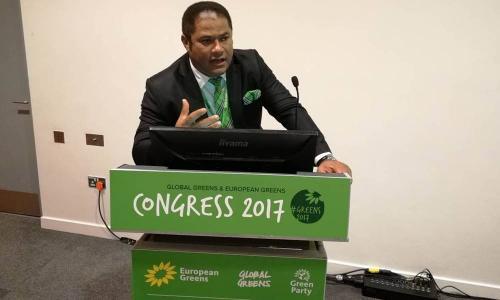 A Liverpool Congrès des Verts Mondiaux (Global Greens)